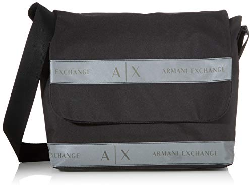 Armani Exchange Herren Messanger Bag Business Tasche, Schwarz (Black), 10x10x10 cm
