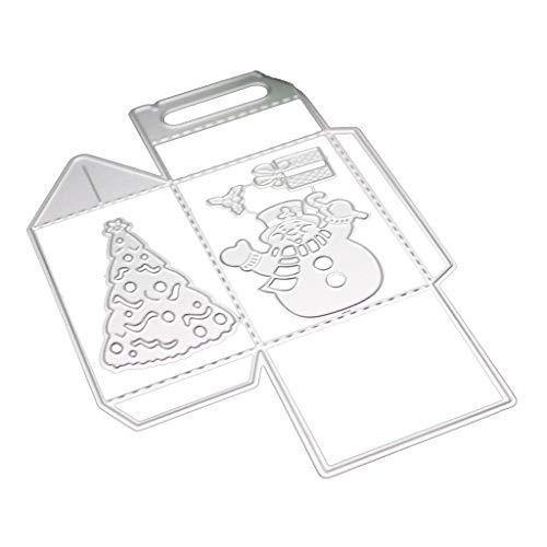 Folewr-8 Weihnachts-Schachteln aus Metall, zum Basteln von Scrapbooking, Herstellung von Karten, Dekoration, Album