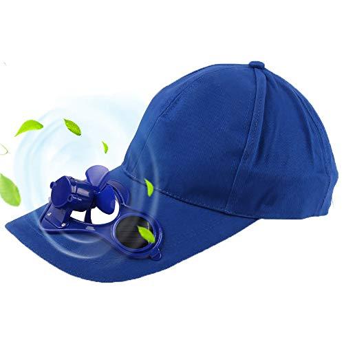 QYHSS Solarbetriebene Kappe, Golf Cap mit Solar Ventilator, Kappe mit Lüfter, Sommer Outdoor-Solar-Sonnenenergie -Hut-Kappe, die kuehlen Ventilator Fuer Golf Baseball Sport, Schwarz