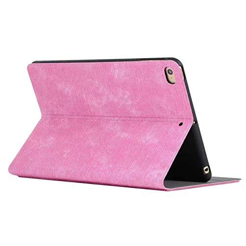 LTLJX Funda para Apple iPad Mini 4/5, Ultra Delgado Plegable Cubierta del Soporte de Funda con Soporte Protectora,Rosado