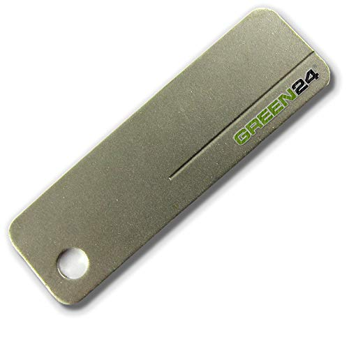GREEN24 Diamant Schleifstein XS320 Pocket - Messerschärfer Messerschleifer Abziehstein Metall Edelstahl Diamantschärfer Diamantschleifer