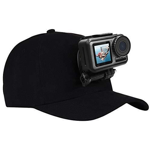PULUZ Supporto per fotocamera Sun Hap, supporto per berretto da baseball con sgancio rapido J-Hook fibbia e vite, per SJCAM e altre macchine fotografiche sportive, regolabile taglia unica
