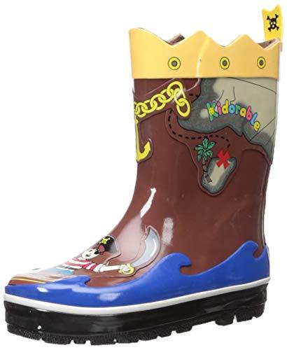 Kidorable Original Gebrandmarkt Gummistiefel / Regen Stiefel Piraten für Jungen & Mädchen EU 27