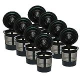 B Baosity K-Cups Reutilizables Compatibles con Las Máquinas 1.0 Y 2.0 (paquete de 8) - Se Adapta a La Mayoría de Los Cerveceros K-Cup