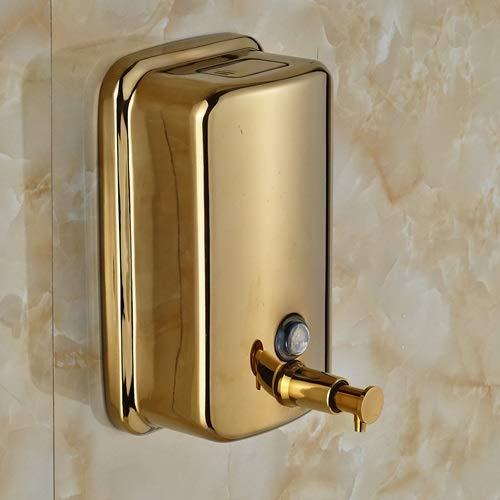 Al por Mayor y al por Menor de latón Macizo Cuarto de baño dispensador de jabón líquido Oro Pulido de Montaje en Pared (Color : 800ml)