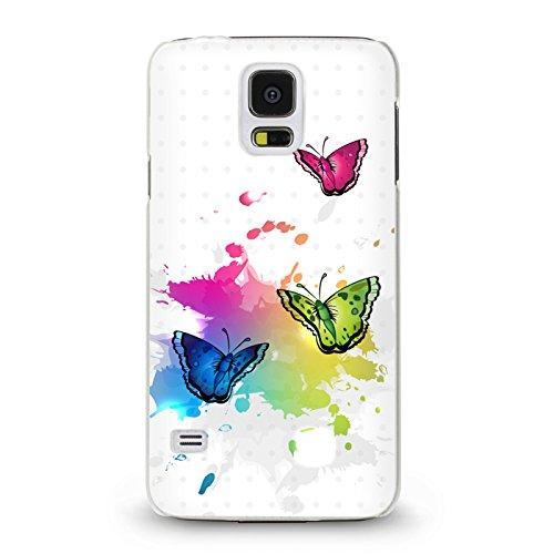 Trendario Handyhülle für Samsung Galaxy S5 (Schmetterlinge) - Hülle - Schutzhülle mit Motiv - TPU Silikon Hülle - Hülle - Cover - Schale - Backcover - Handytasche