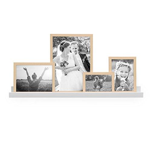PHOTOLINI Bilderleiste Weiss 70 cm aus MDF inkl. Montagematerial   Galerieboard   Regalboard   Wandregal   Bilderboard