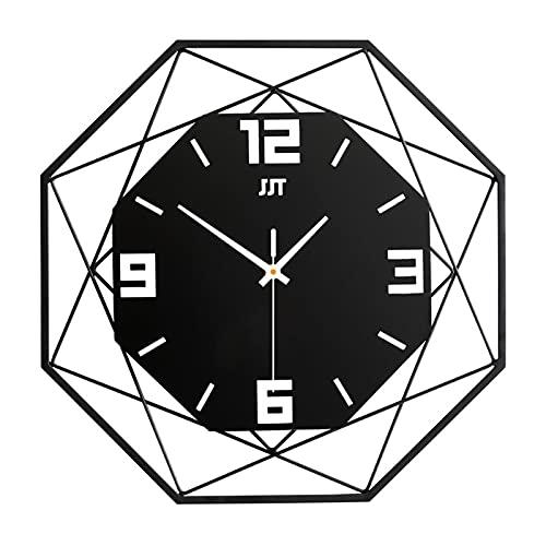 HarMonn Reloj de Pared Reloj Colgante de Moda Sala de Estar Reloj Creativo Home Metallic Decoración de Cuarzo Reloj de Reloj (Color : JT18208A 35, Sheet Size : 35cm)