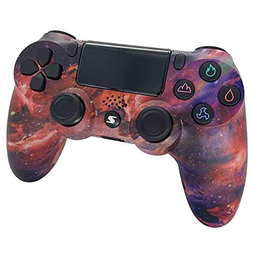 Drahtloser Controller für PS4 Slim / PS4 Pro, USB-Controller für PC, Bluetooth Remote Gamepad, Turbo, unterstützt PS4-Funktionen für Android-Tablet, PC/TV, TV-Box