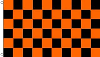 AZ FLAG Black and Orange Check Flag 3' x 5' - Checkered Racing Flags 90 x 150 cm - Banner 3x5 ft
