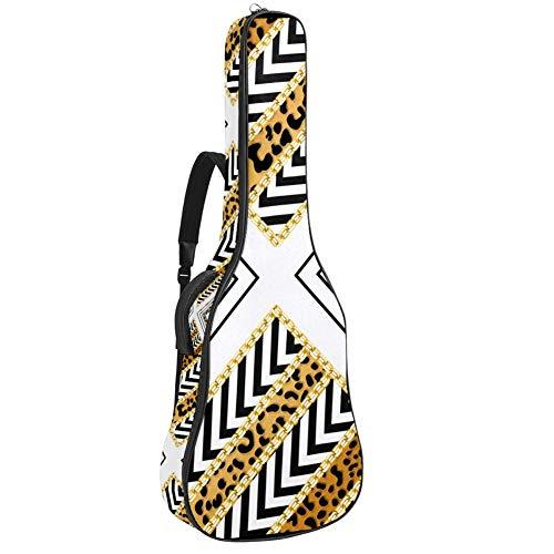 Bolsa de guitarra eléctrica impermeable con cremallera suave mochila para guitarra acústica y clásica