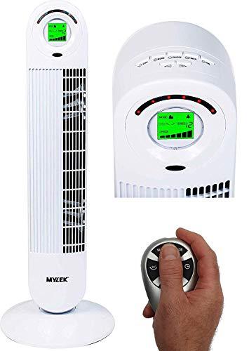 """MYLEK Cyclops 34"""" Remote Control Oscillating Tower Fan + Timer + Ionizer"""