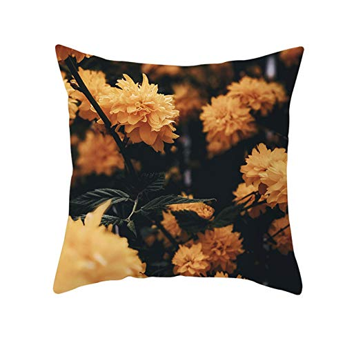 DuangDuang Light-colored flowers home decoration pillowcase car sofa cushion cover home decoration for office meeting room decoration