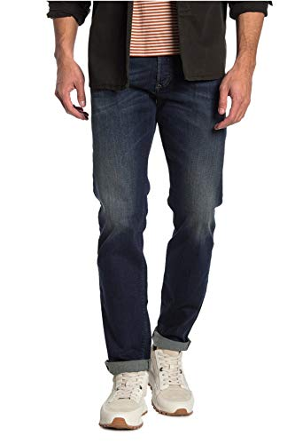 Diesel Herren Jeans Buster Dark Blue Treated | Regular Slim Tapered (W32/L32, Dark Navy)