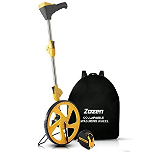 Measuring Wheel Digital Display, Zozen Foldable Feet/Meter Digital Measuring Wheel, Measure Wheel Digital with Backlit Display | Up to 99,999Ft/ 99,999M | Easy to Carrying With cloth backpack.