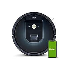 iRobot Roomba 981 Saugroboter mit 3-stufigem Reinigungssystem, Raumkartierung, Teppich-Turbomodus, zwei Multibodenbürsten, WLAN Staubsauger Roboter für Hartböden, Teppiche und Tierhaare, App-Steuerung©Amazon