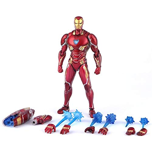 Xiao Yu Marvel Avengers Infinity War Figura de acción de Iron Man MK 50 Mark XLX PVC Modelo de colección de Juguete