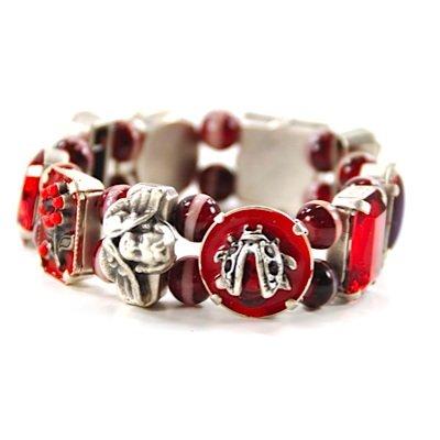 Alpenwahn Armband VINTAGE ROMANCE red