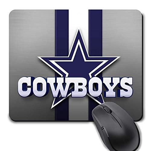 Dallas Football Team Mouse Pad,Life Needs Sport Mousepad with Non-Slip Rubber Base for Laptop Computer Gaming Desktop Mat