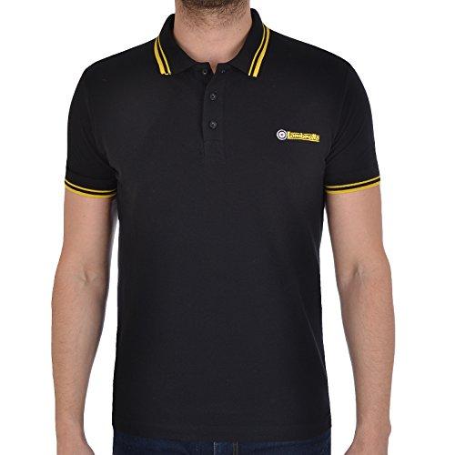 Lambretta - Herren Polohemd mit Kontrastsaum - Piqué-Gewebe - kurzärmlig - Mehrfarbig - S