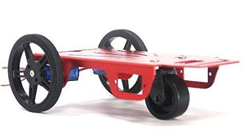 Kit 2WD FM90R 1-6V 100mA CC Motor robot in alluminio del telaio