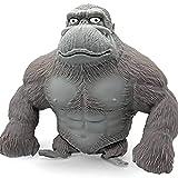 Emeili Juguete de Figura de Gorila de Látex Elástico, Juguete de Descompresión, 15cm
