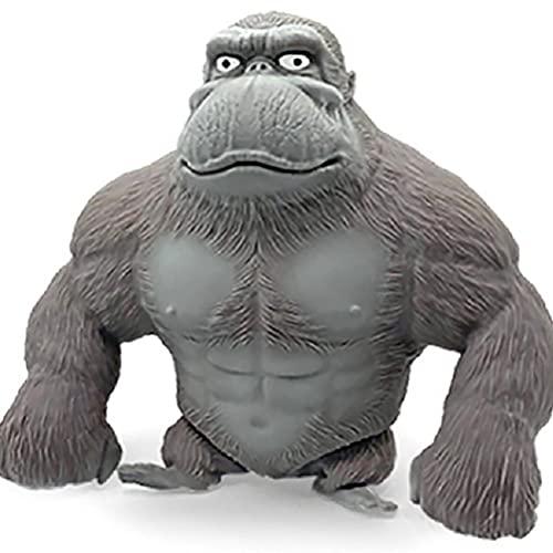 Figura de anime juguetes, figura de animales salvajes, figuras de acción realistas de látex mono gorila femenina modelo de animales de vida silvestre figura de juguete para cumpleaños