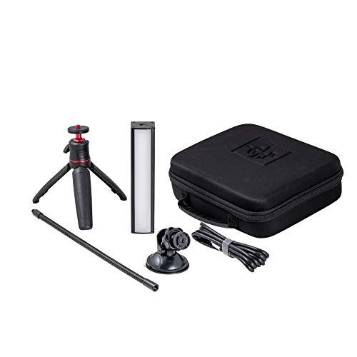 GLP Streamer Deluxe Control Kit, USB LED Videolicht, Webcam/Streaming Licht, dimmbar, Farbe 1900-5600K, App, Koffer+ Stativ, Saugnapf, Schwanenhals