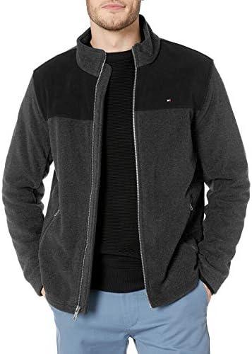 Tommy Hilfiger Men s Classic Zip Front Polar Fleece Jacket black Charcoal XL product image