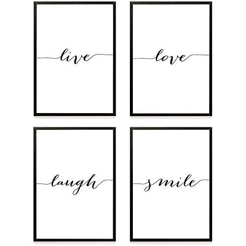 Heimlich Premium Poster 4 Stück In Din A3 Viele Weitere Motive Im Shop Ohne Rahmen Live Love Laugh Smile