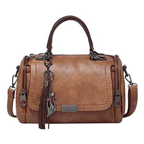 YSFWL Handtaschen Ledertasche Shopping Sportliche Messenger Zum Leichte Kosmetiktasche Strandtasche Online Businesstasche Marken Shop Kaufen Coole Koffer (Kaffee)