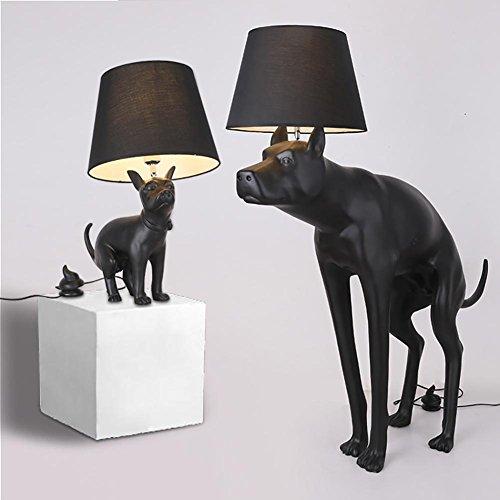 OOFWY Big Dog Stehleuchte Puppy Tischleuchte Modern Kreativ für Hotel Schlafzimmer Wohnzimmer Bedside Dekoration Resin Stolze Puppy Shit-Shape Switch Schreibtisch Standard-Lampen, small