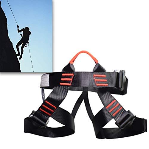 Bergsteiger-Sicherheitsgurt, Klettern Downhill Half Body Fallschutzausrüstung Einstellbare High Strength Polyester High Load Bearing Starke Verschleißfestigkeit HAIKE ( Color : Black , Size : 50cm )