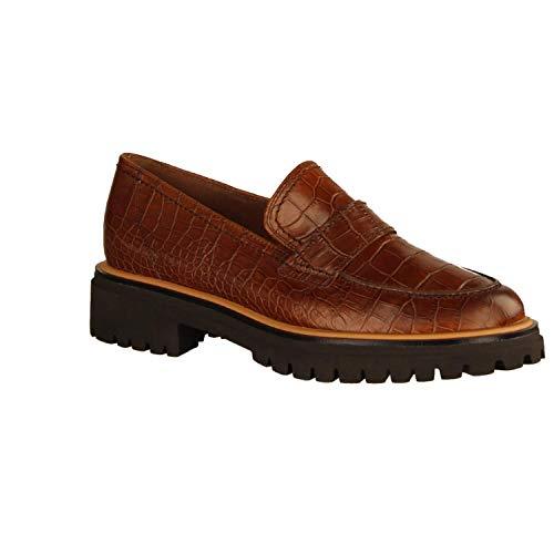 Paul Green 2683-047 Cuoio (Braun) - Slipper - Damenschuhe Slipper/Trotteur, Braun, Leder (Croco), absatzhöhe: 20 mm