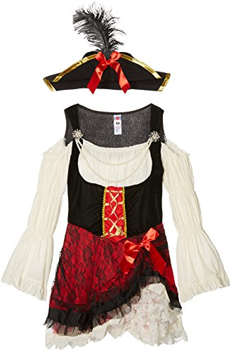 Smiffys Costume glamour de piratesse, avec robe et chapeau