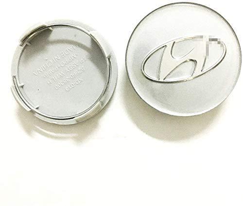 BGTJN 4pcs para Hyundai 60mm Centro Tapacubos, Car Pegatina Centrales Tapones Mediados...