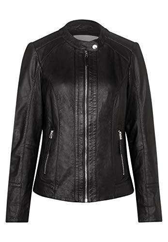CECIL Damen 211094 Lederjacke, Schwarz(Black), XL