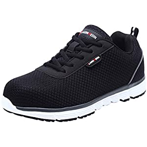 41Wf5dX0N0L. SS300  - Zapatillas de Seguridad Mujer L8038 SRC Zapatos de Trabajo con Punta de Acero Ultra Liviano Suave y cómodo Transpirable Antideslizante
