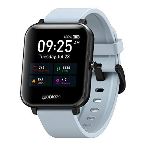 chebao, Reloj de pulsera inteligente Zeblaze GTS IP67, resistente al agua, reloj de pulsera inteligente, recordatorio de frecuencia cardíaca, color gris