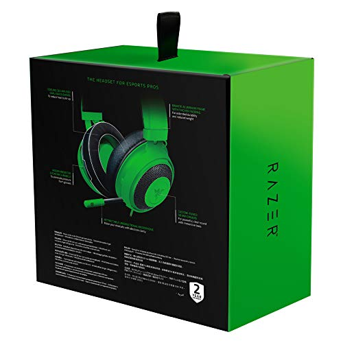 Razer Kraken - Gaming Headset (Kabelgebundene Headphones für PC, PS4, Xbox One & Switch, 50mm Treiber, 3,5mm Audio-Klinkenstecker mit In-Line Fernbedienung) grün