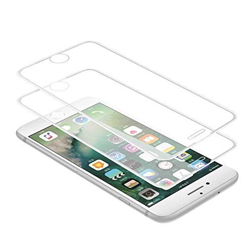 Techkun - Protector de pantalla de cristal templado para iPhone 6/6S/7/8 (2...