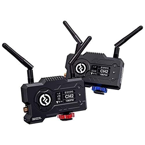 Hollyland Mars 400S Pro - Drahtloses Videoübertragungssystem SDI/HDMI mit HD 1080P60 0.06s Latenz 400ft Reichweite,12M BPS APP Monitor OBS für Live Stream Adjustale Fan (Transmitter & Receiver - EU)