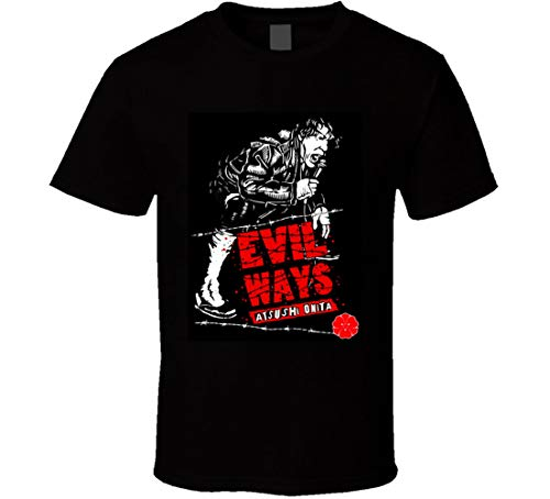 N/N Atsushi Onita Evil Ways FMW AJPW Giappone Classic Retro Rare Wrestling T Shirt Nero XXL
