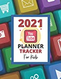 2021 YouTube Planner Tracker for kids: new edition equipment smart channel sheet creator Gifts online social media marketing cheap icon password log ... paper workbook with planning notepad diary.