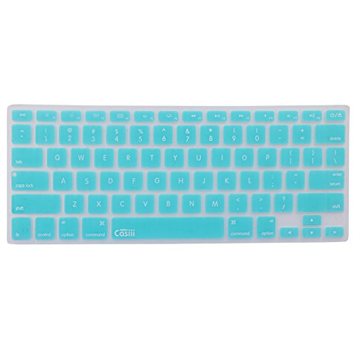 Sale Casiii Silicone MacBook Pro Keyboard Cover for MacBook Pro Air and iMac, 13 15 and 17 Inch, Fits 2015 Models and Older with/Without Retina Display,Back to School,College (Blue)