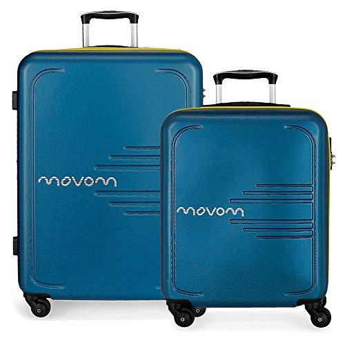 MOVOM Flash Juego de Maletas, 69 cm, 117 litros, Azul