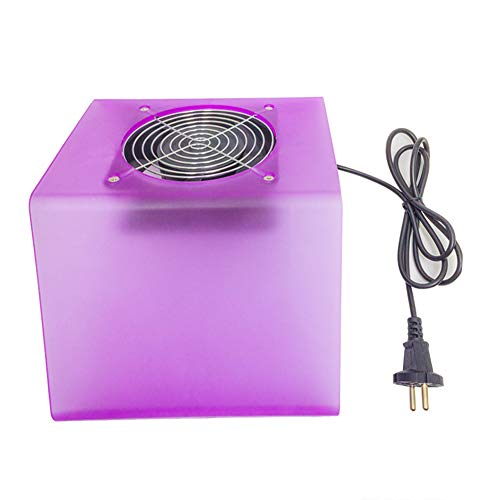 Aspirateur Manucure Déchargement des copeaux de ponçage de bureau Collecteur de poussière en plastique ABS à simple ventilateur Nail Cleaner Vacuum Oreiller à usage double Nail Tool 220 v