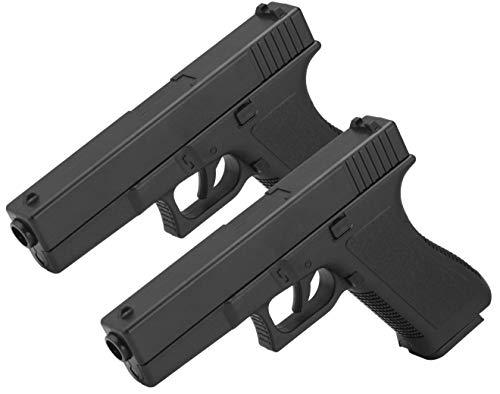 2er Set Softair Gun Airsoft Pistole + Munition | Cadofe V307 Profi Voll ABS | 19cm. Inkl. Magazin & unter 0,5 Joule (ab 14 Jahre)