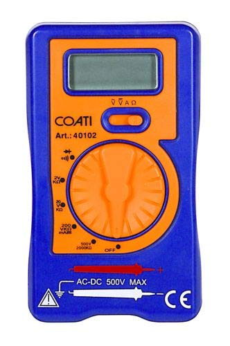 COATI MI401020 MULTÍMETRO Digital con SELECTOR DE Escala Manual, Naranja