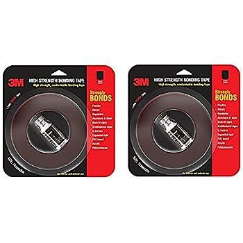 3M Hi Strength Bond Tape (12 mm x 5 m 1 Roll + Primer) Pack of 2